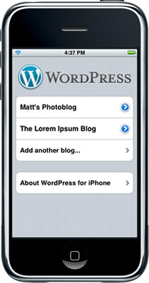 Wordpress para iPhone