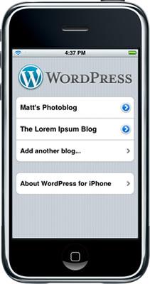 Wordpress para iPhone